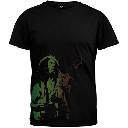 Ptshirt.com-18912-Bob Marley - Rasta Guitar T-Shirt-B000N58HIO-T Shirt Design