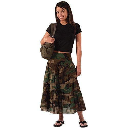 Rothco Women's Gauze Skirt, Woodland Camo, Small