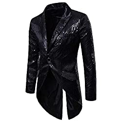 Men's Sequin Tails Tailcoat
