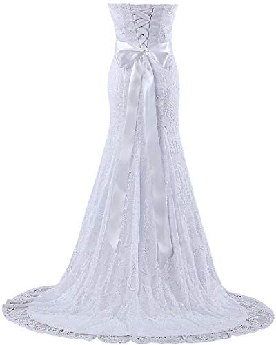 ANTS Bridal Lace Wedding G Ivory Gowns Women Dresses Mermaid s qwPCRqA