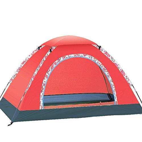 流体泳ぐ凶暴なテントの家庭2人家族キャンプ野生のキャンプテントセット のテント (色 : スイカの赤)