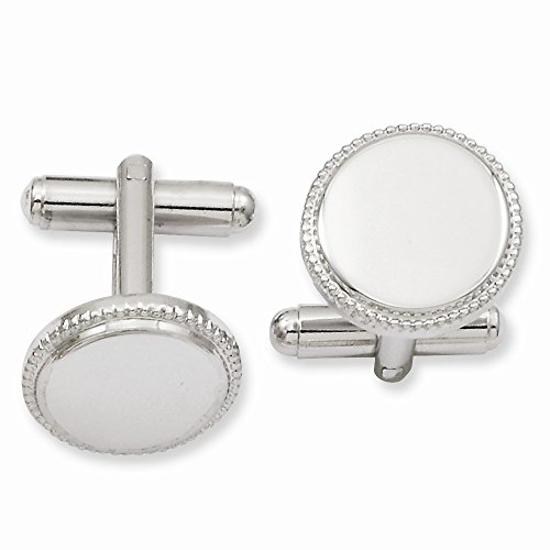 ICE CARATS Kelly Waters Beaded Round Cuff Links Mens Cufflinks Man Link Water Fashion Jewelry Gift for Dad Mens for Him