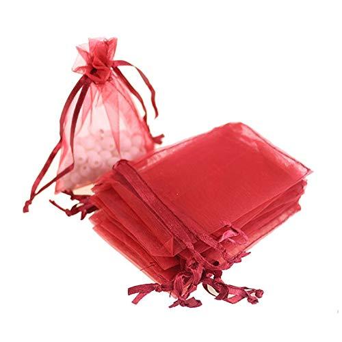 44026ce7de25 Amazon.com: XLPD Wholesale 50Pcs 13X18cm Tulle Organza Bags Wedding ...