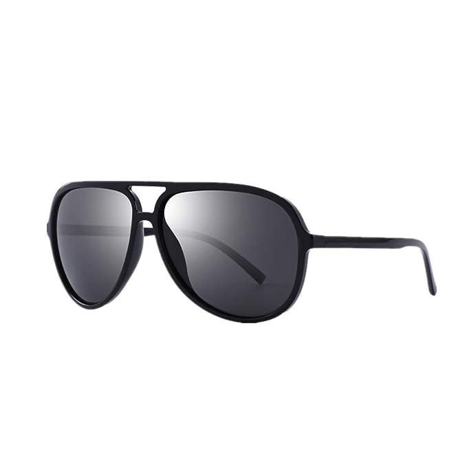 DEFJQQPL Sunglasses Gafas de sol polarizadas para piloto clásico de los hombres, más ligeras,