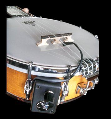 RESONATOR BANJO PICKUP with FLEXIBLE MICRO-GOOSE NECK by Myers Pickups ~ See it in ACTION! Copy and paste: myerspickups.com