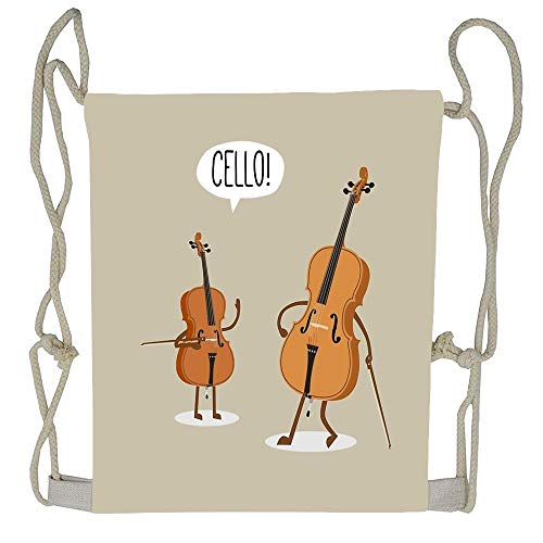 (Cellcardphone Cello! Cute Drawstring Bag Personalized Gift String Backpack)