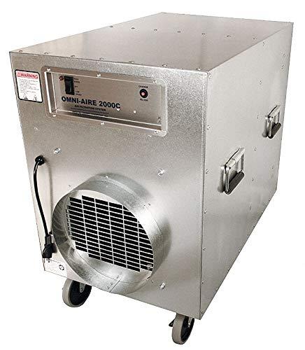 (Negative Air Machine, 1-1/2 HP, 115 Voltage, 12.0 Amps, 800 to 1600 cfm )