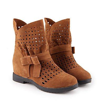 US9 Casual Botas Zapatos Vestimenta Verano Botines Rojo Para Invierno RTRY CN41 Confort Botas UK7 Perezoso Polipiel Bowknot El Puntera Botines Talón Redonda Bajo De EU40 Mujer BRCddqpw