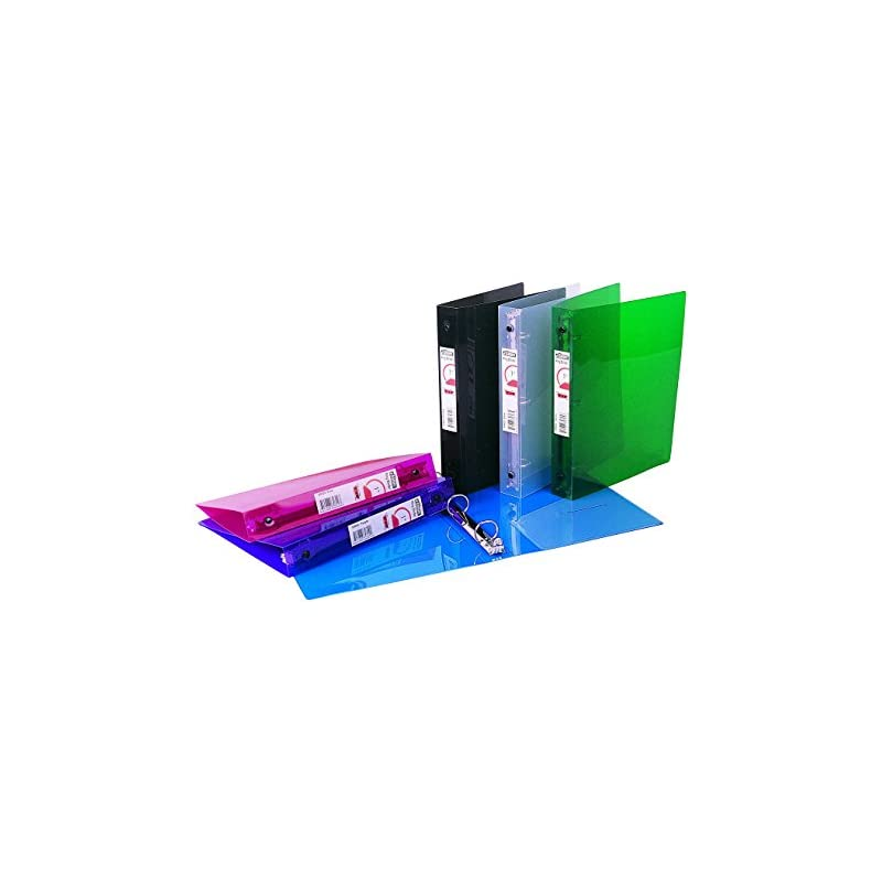 """Filexec Products 1"""" Ring Binder, 5""""x8"""", Pack of 12, Assorted (50501-6452)"""