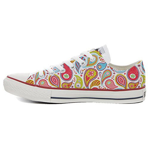 Converse All Star Slim Customized personalisierte Schuhe (Handwerk Schuhe) Power Paisley