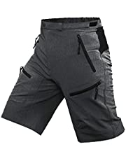 Cycorld Mens Mountain Biking Shorts Bike MTB Shorts Loose Fit Cycling Baggy Lightweight Pants with Zip Pockets Without Padded