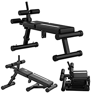 Adjustable Weight Bench Sit Up Bench, Foldable Workout Bench for Home Gym,4 in1 Multifunctional Fitness Bench for Full Body Workout Equipment Back Extension Exercise Bench Dumbbell Bench