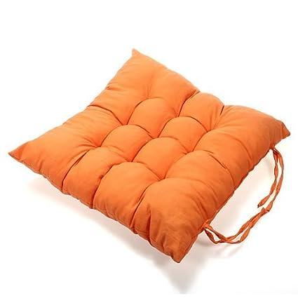 Cojines de terraza,Mytobang cómodos cojines para silla,cojín acolchado,Cojín de asiento 40x40cm Cojín de silla suave con cuerda para fijar a la ...