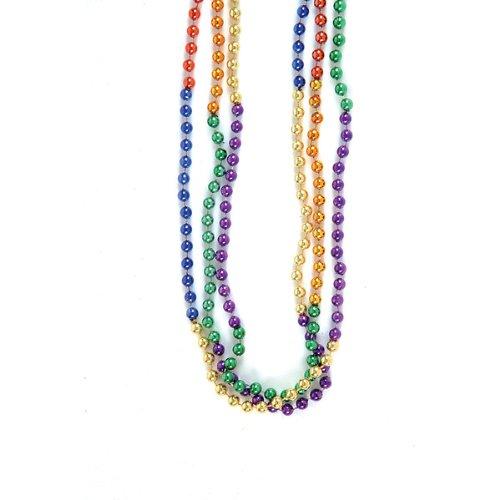 Rainbow Mardi Gras Bead Necklaces (1