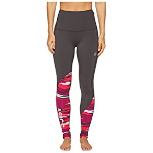 ASICS Women's Fuzex High waist Tights, Dark Grey/Impulse Cosmo Pink, Medium