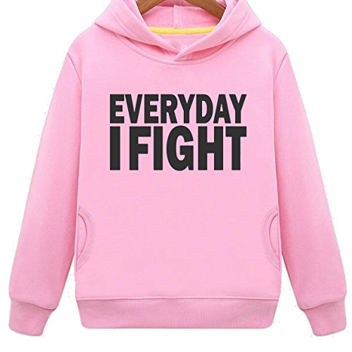 Mustang Kids Everyday I Fight Rousing Hoodie with Side Pockets (P,L)