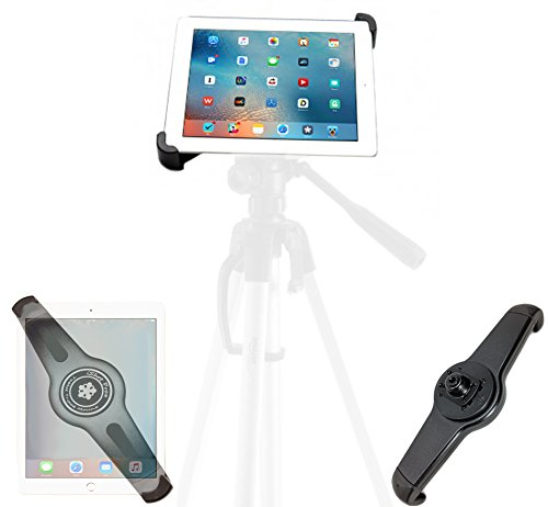 iShot G10 Pro Universal iPad Tablet Tripod Monopod Mount Adapter Holder - Compatible with and Adjustable for iPad and All 7 to 11 Tablets with or Without a Case