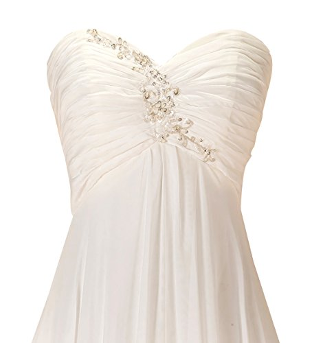 GEORGE DESIGN 2017 New Sweetheart Empire Ruched Beach Wedding Dress Size 14 Ivory