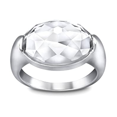 Image Unavailable. Image not available for. Color  Swarovski Vanilla  Crystal Ring 3fe178ea07c3