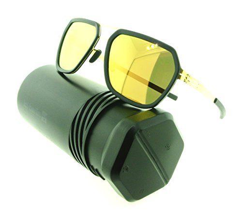 ic! berlin Sunglasses Jorg R. Aviator Sunglasses Metal Frames (Matte Gold, Gold - Ic Berlin Frame
