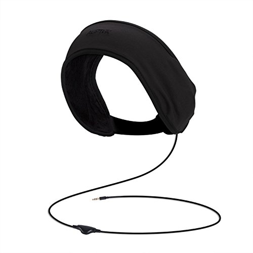 AGPTEK Headband Headphones, Sleep Headphone with Soft Lycra Mesh Lining, Volume Control and Bag for Sleeping, Sports, Air Travel, Snoring, Insomnia, Meditation & Relaxation, Black