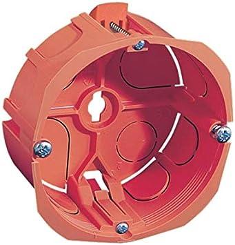 Caja de empotrar 32 A diámetro 86 mm prof 40 mm Naranja para yeso ...