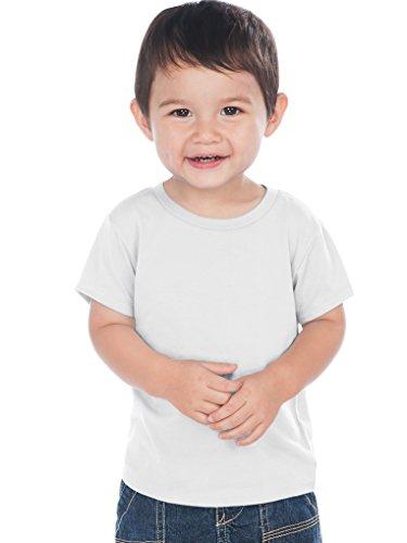 - Kavio! Unisex Infants Crew Neck Short Sleeve Tee (Same IJC0432) White 18M