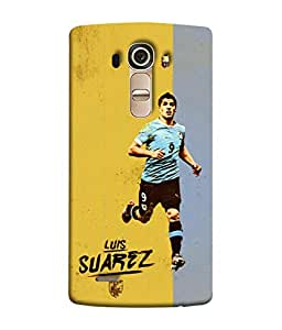 ColorKing Football suarez Uruguay 03 Multicolor shell case cover for LG G4