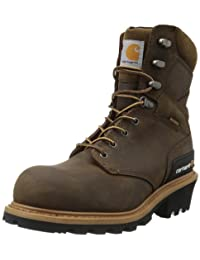 Carhartt Men's CML8369 8 Inch Composite Toe Boot,Crazy Horse Brown Oil Tanned