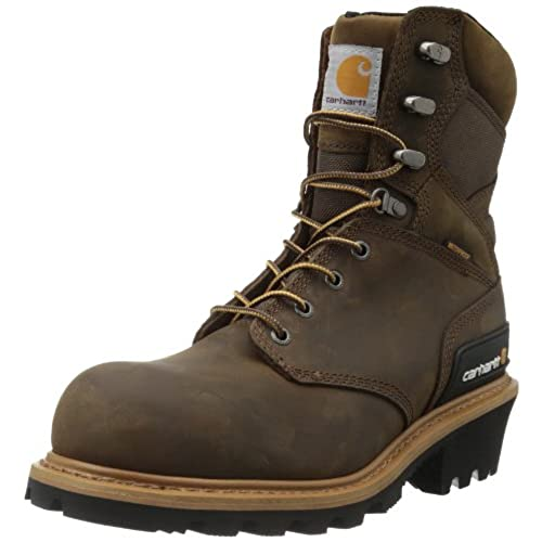"Carhartt Men's 8"" Waterproof Composite Toe Leather Logger Boot CML8369"