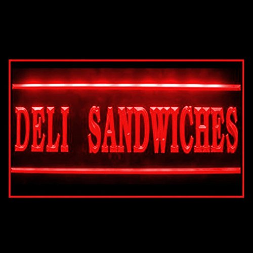 110285 Deli Sandwiches Party Platters Salami Display LED Light Sign (Led Sandwiches Sign)