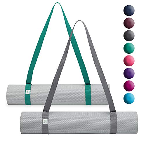 Gaiam Easy Cinch Yoga Mat Sling (Sold Individually with Assorted Colors), Turquoise Sea or Granite Storm