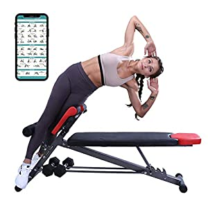 Multi-Functional Weight Bench for Full All-in-One Body Workout – Hyper Back Extension, Roman Chair, Adjustable Ab Sit up Bench, Decline Bench, Flat Bench