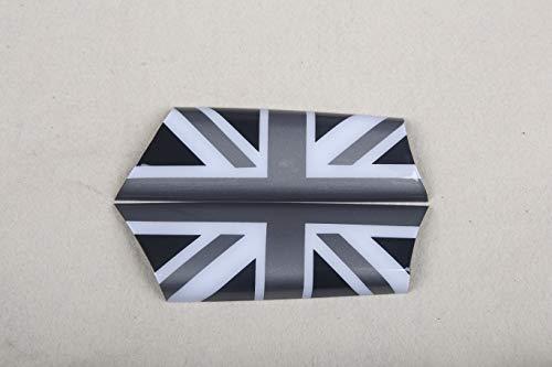 (Door Handle Armrest Panel Cover Trim Cap ABS for Mini Cooper R55 R56 R57 R59 R60 R61 F54 F55 F56 F57 F60 Clubman Hardtop Hatchback Covertible Countryman (R55 R56 R57 R58 R59, Union Jack Gray))