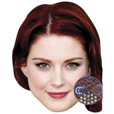 Amazoncom Alexandra Breckenridge Celebrity Mask Card Face And