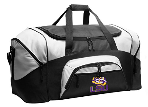 Broad Bay Large LSU Duffel Bag LSU Tigers Suitcase LSU Tiger Eye Gym Gear Bag for Him Or Her