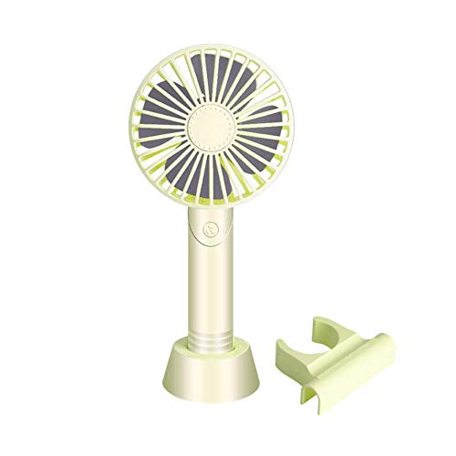 LXT PANDA Handheld Fan, Portable Operated USB Fan Mini Personal Fan Outdoor Electric Fan with Rechargeable Battery Adjustable 3 Speeds Home Travel,Green ()