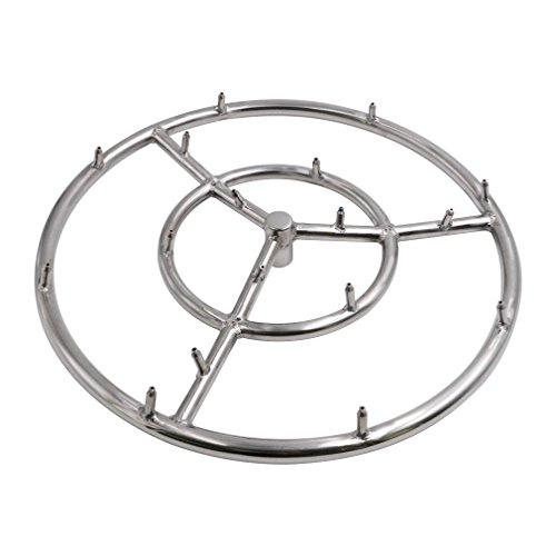 Skyflame 18 Inch Round Stainless Steel Fire Pit Jet Burner Ring, High Flame (Pit 18 Fire)