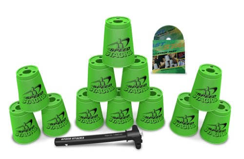 Sport Stacking with Speed Stacks Cups Neon Green (Cup Stacking)
