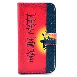 MOFY- Funda de cuero Hakuna Matata PU del patr—n con ranura para tarjeta Holder Dinero para Samsung Galaxy S3 I9300