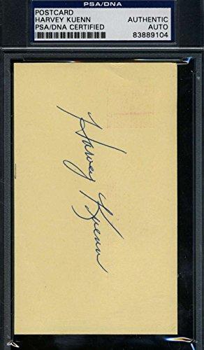 HARVEY KUENN 1961 SIGNED PSA/DNA GPC GOVERNMENT POSTCARD AUTHENTIC AUTOGRAPH