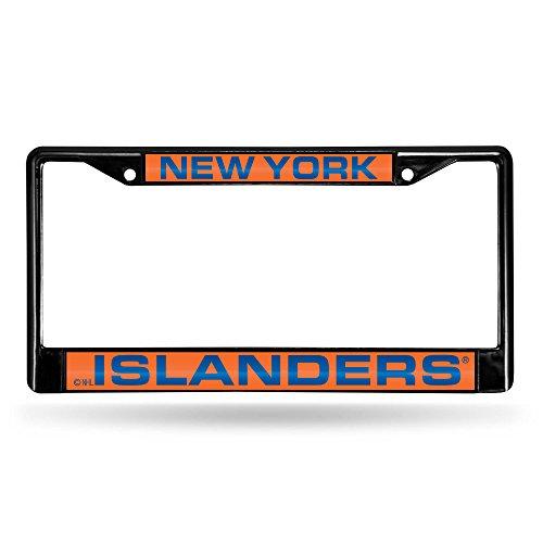 (New York Islanders Laser Black License Plate)