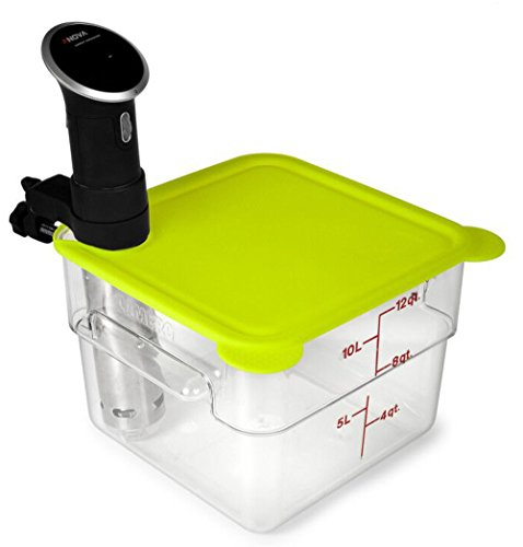 EVERIE Silicone Lid Compatible with Cambro Sous Vide Container 12 Qt and Anova Sous Vide Cooker (Corner Mount) by V EVERIE (Image #1)