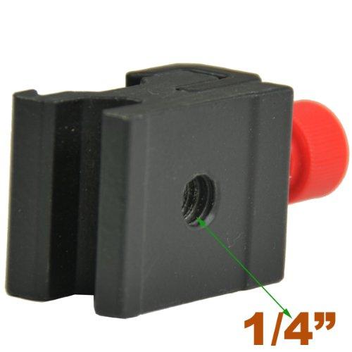 ePhoto New Speedlite Cold Shoe Hotshoe 1/4 Screw to Flash Hot Shoe Mount Adapter Nikon Canon H6800R