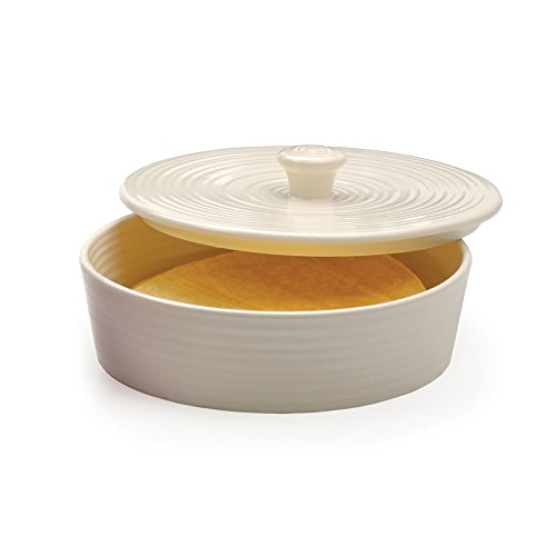 RSVP Stoneware Tortilla Warmer, White, 8-inch