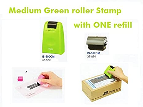 Plus Guard Your ID Roller Stamp With Messy Code Perfect For Privacy Protection One Refill