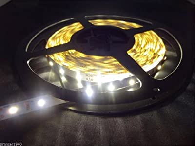 Warm White Cabinet Counter LED Lighting Tape Strip 3528 SMD 5 Meters / 16.4'