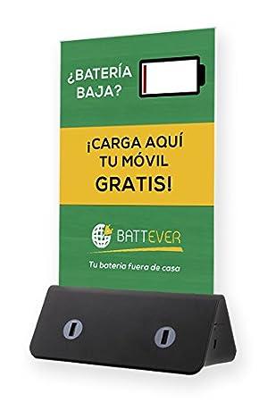BATTEVER Cargador de móvil para Bares y restaurantes, Cargador de hostelería (Modelo Slim / 10.000 mAh) + Promoción en App