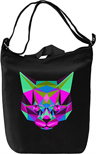Origami Cat Borsa Giornaliera Canvas Canvas Day Bag| 100% Premium Cotton Canvas| DTG Printing|