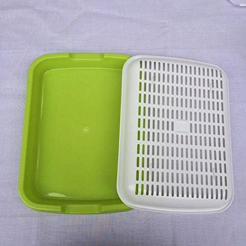 Easy-topbuy Hydroponikschale, Zweilagige Saatgut-Startschale Pflanzentablett Kindergarten Tablett Weizengras-Implantatschale Soilless Kultivieren Bohnensämling Tablett (Farbe Zufällig)